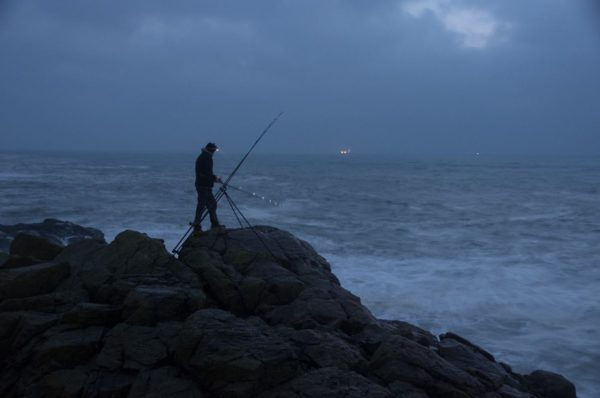 First light on a grey autumn day fishing just south of Aberdeen