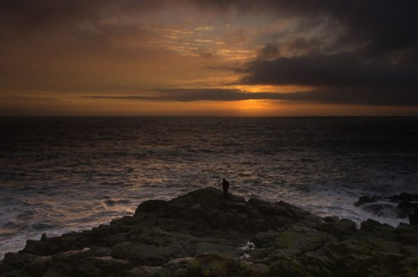 An atmospheric sunrise over the North Sea just south of Aberdeen
