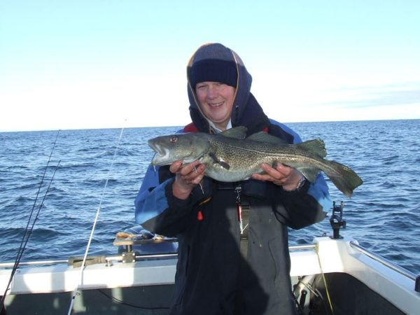 Ian with a 5lb codling