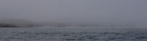 Freezing fog on the Fife coast looks like smoke on the water