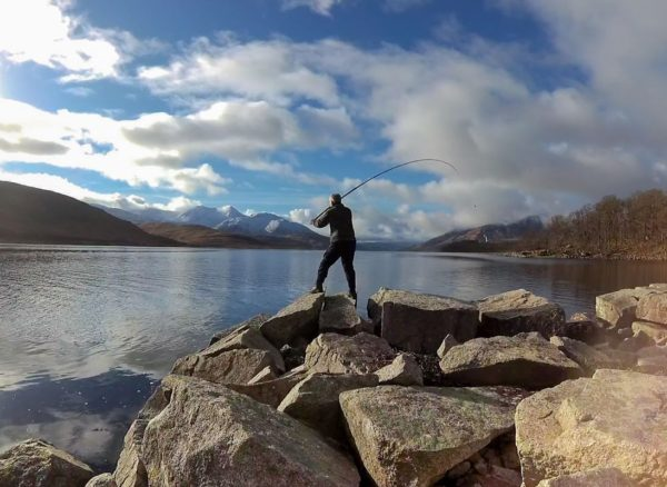 Casting out in search of spurdogs on a calm, crisp day in the wilds of Loch Etive