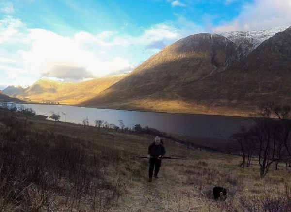 Hiking in to my fishing mark along upper Loch Etive