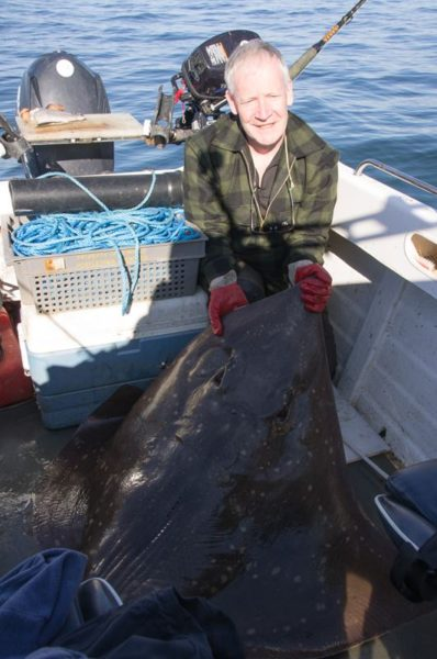 A 107lb male skate caught off Kerrera