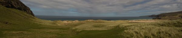 Approaching Sandwood Bay, with Cape Wrath in the far north