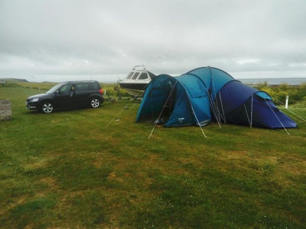 Base camp - a 12 man tent for the 3 of us
