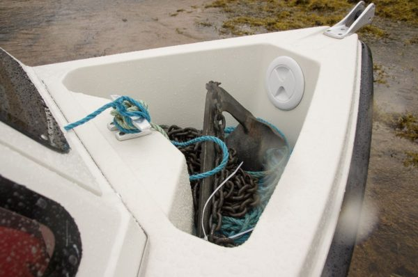Orkney Longliner2 Anchor well is larger than first appears and should hold my heavy duty setup with 200m of rope