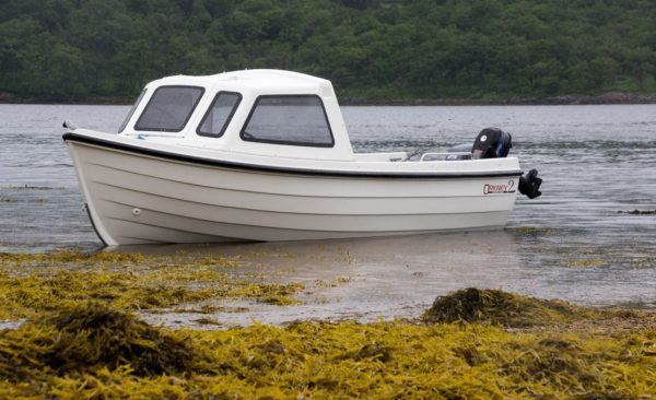 A view of my Orkney Longliner2 ashore on Loch Etive