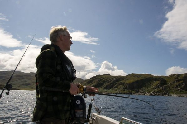Drift fishing near Glengarrisdale, Jura