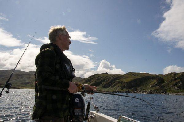 Drift fishing near Glengarrisdale, Jura