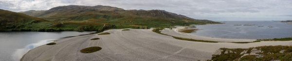 Impressive raised beach on Loch Tarbert, Jura.