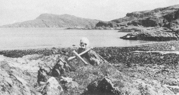 Maclean's skull, Glengarrisdale Bay, Jura