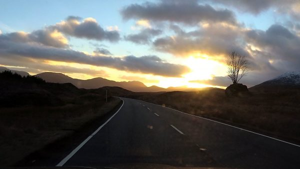 November sunset over Rannoch Moor