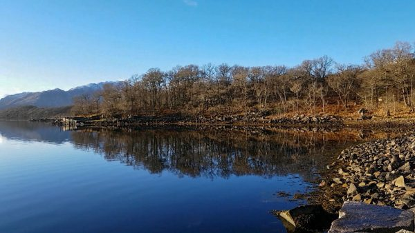 Cold, clear and windless - a perfect winter day at Barrs, Loch Etive