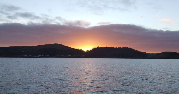 Sunrise off Gallanach, near Oban, January 2018