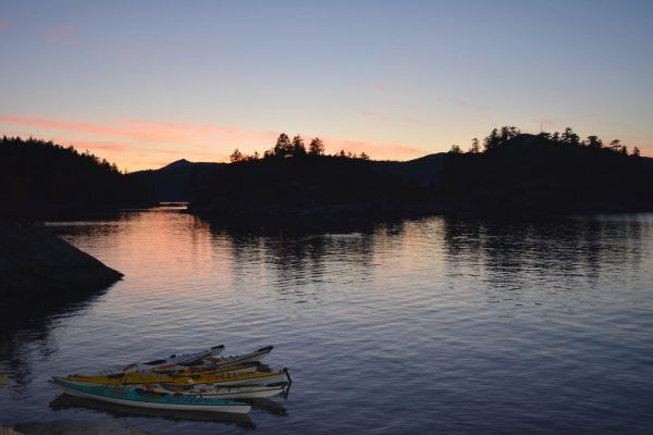 Almost ready for a midnight paddle on Desolation Sound (image courtesy of Fia)