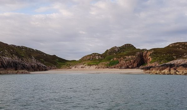 Anchored up for the night in Traigh na Margaidh (Market Beach) on the northern coast of the Ross of Mull