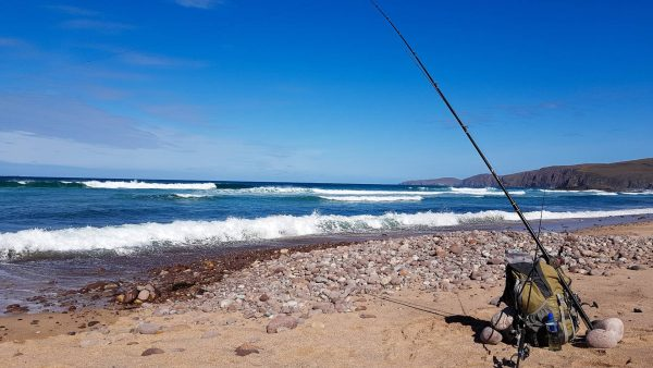 Fishing the southern end of Sandwood Bay