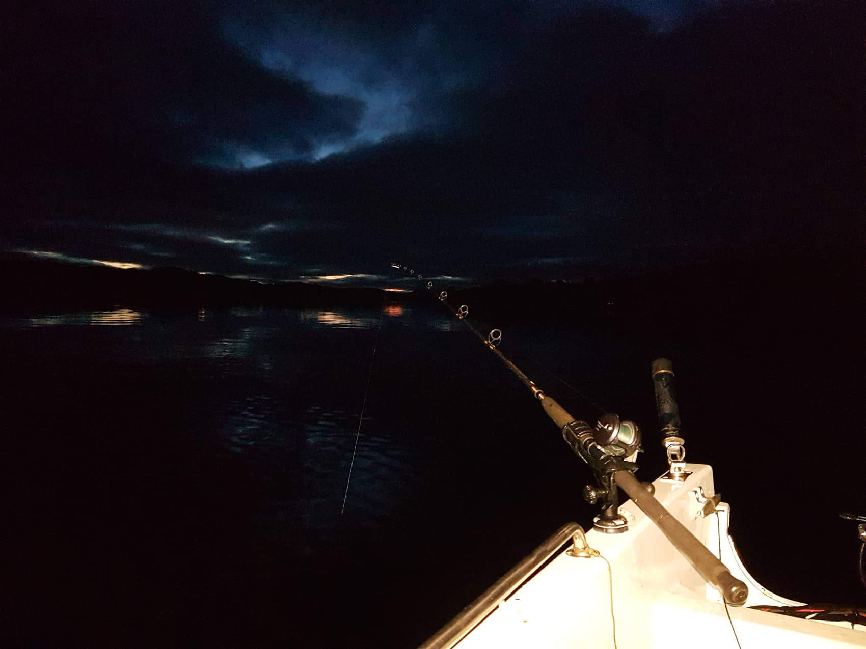 Afloat on Loch Etive on a mid-winter night
