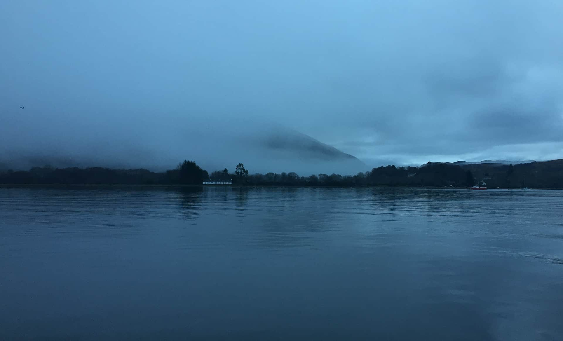 A grey and foggy start to the day at Taynuilt, Loch Etive