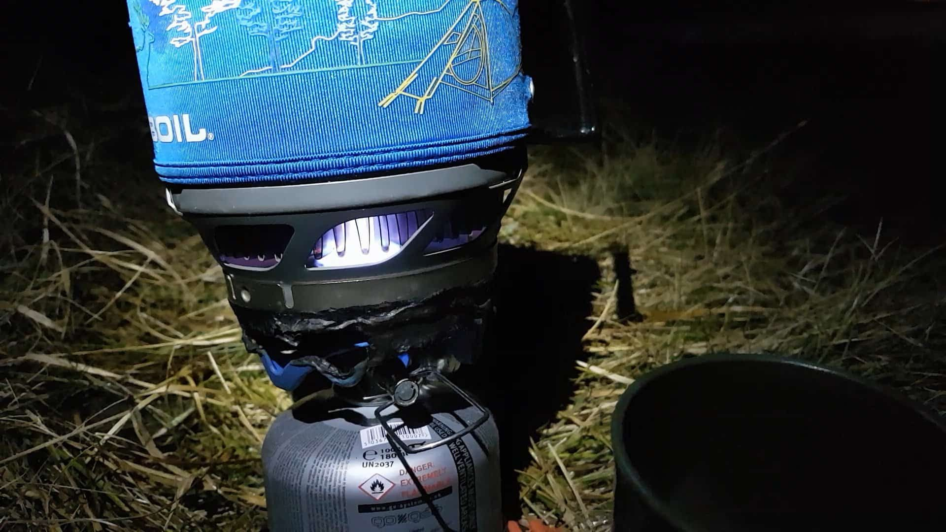 A jetboil keeps it simple - cooking a meal in the November darkness