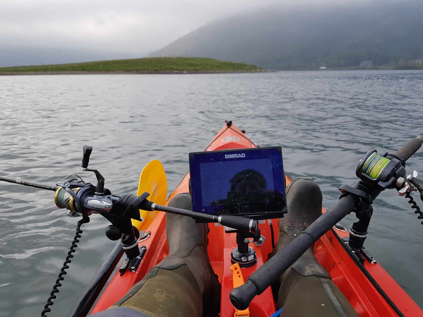 Initial kayak fishing setup - with room for improvement