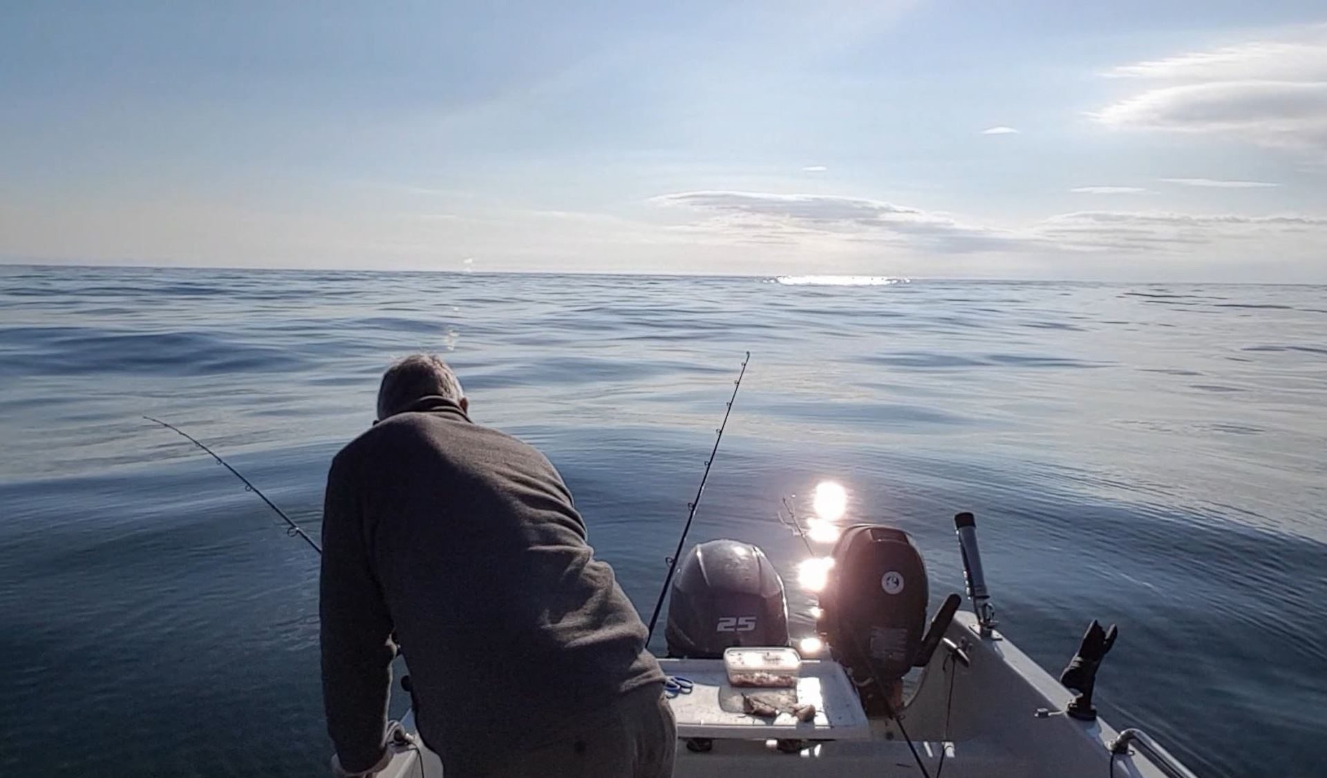 An easy day fishing out of Dunbar in calm conditions