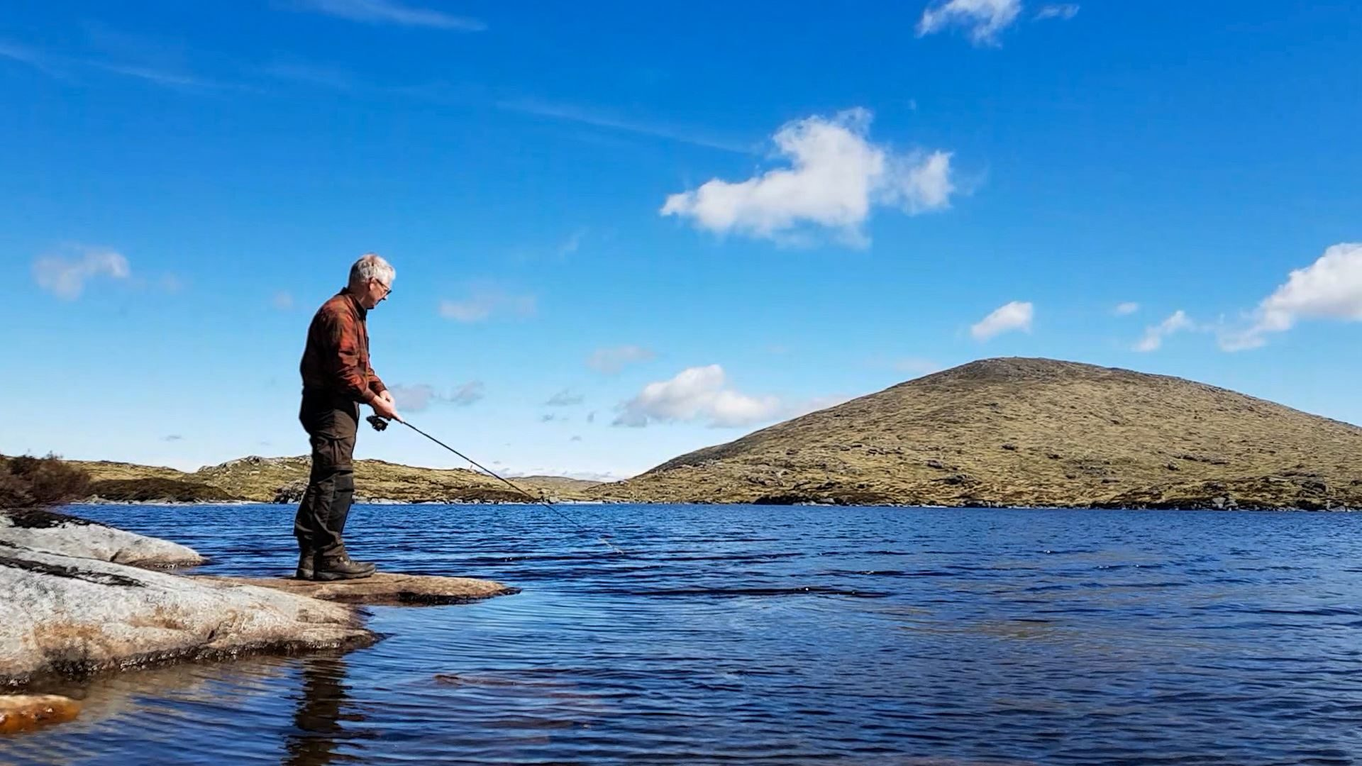 Fishing a Galloway hill loch