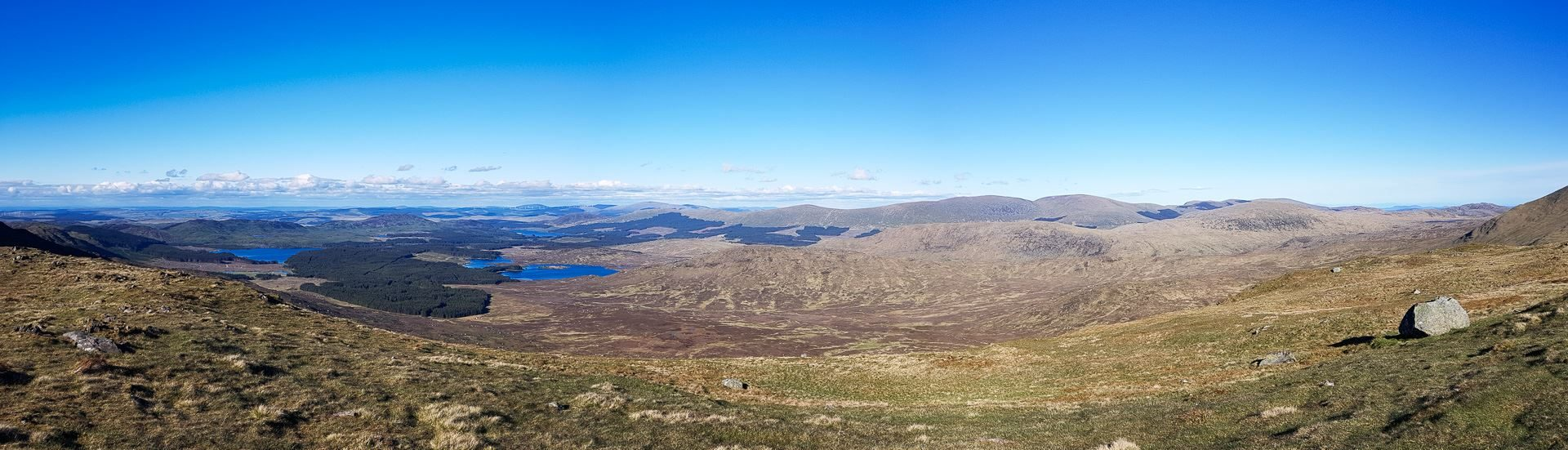 Across the hills and lochs of the Galloway hills