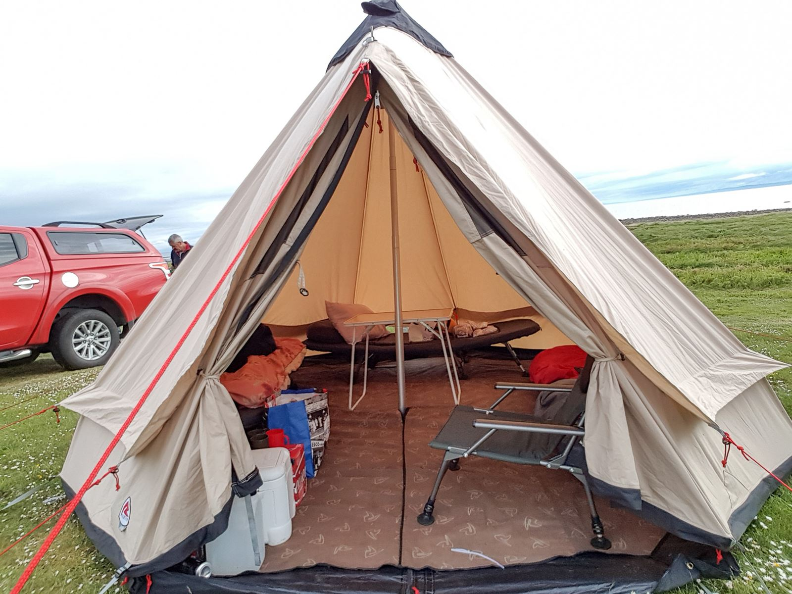 Our base camp for a week - complete with carpet and very comfortable beds.