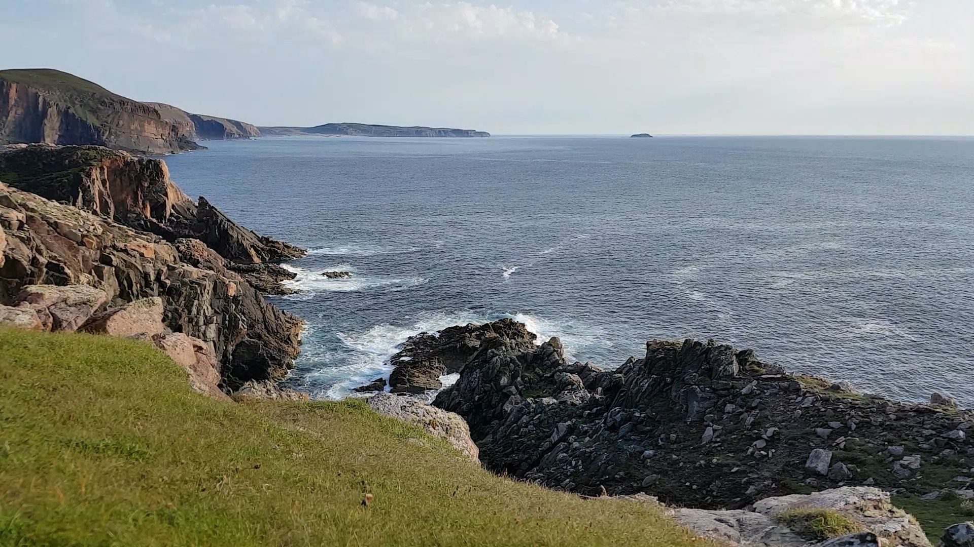 The rocky shoreline just south of Cape Wrath, NW Scotland