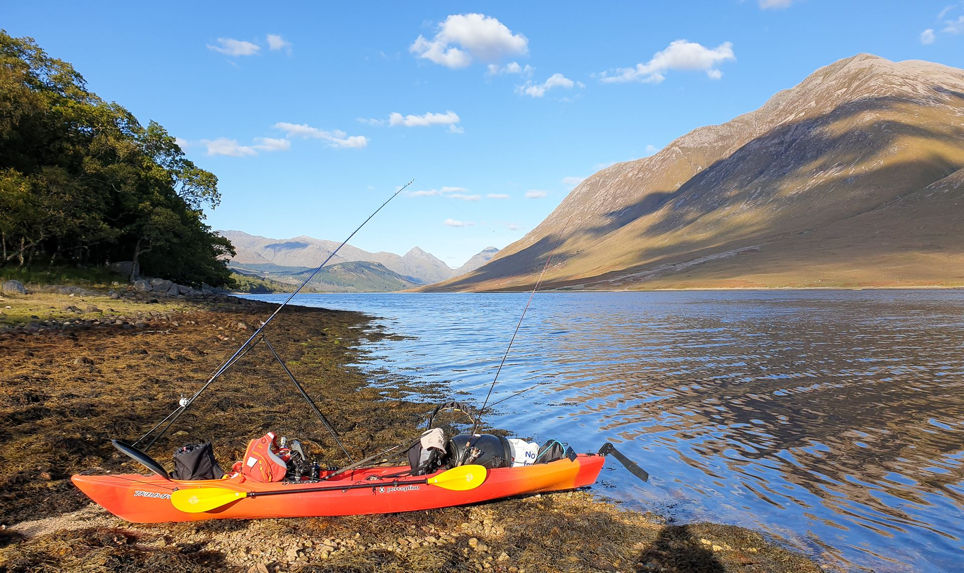 My kayak on the shores of Loch Etive