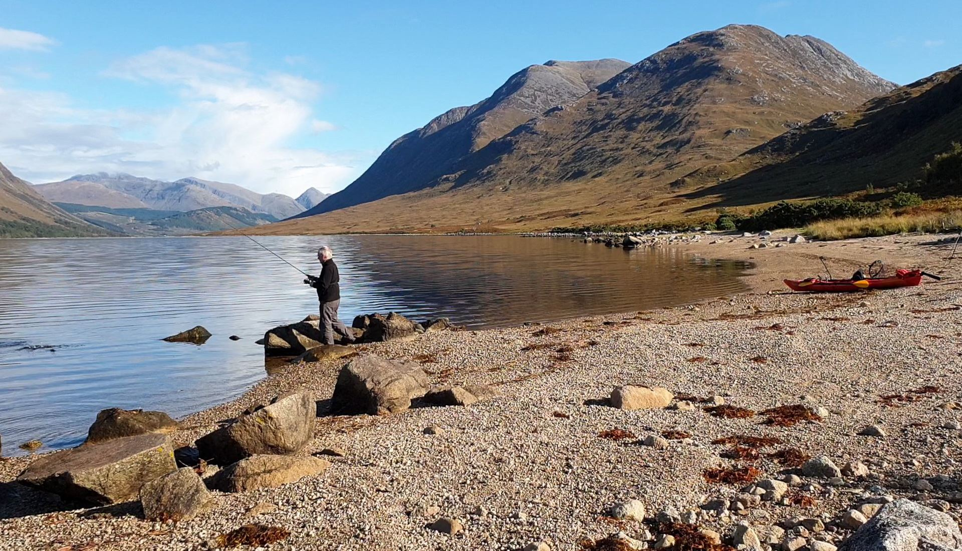 Spinning for brown trout in Loch Etive